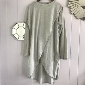 Tops - Gray Teeshirt Long Tulip Tunic